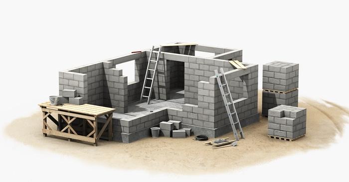 Возведение стен жилых домов