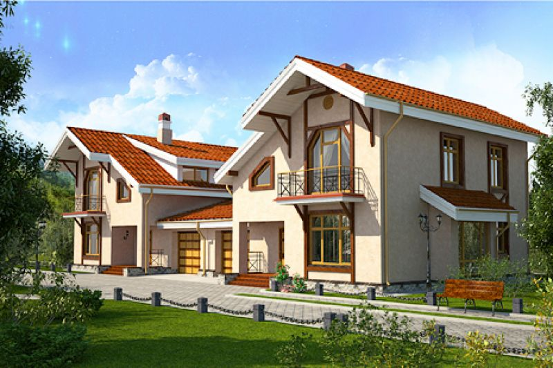 Строительство усадеб в Киеве - пример работ