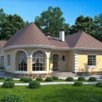 одноэтажные дома в класическом стиле