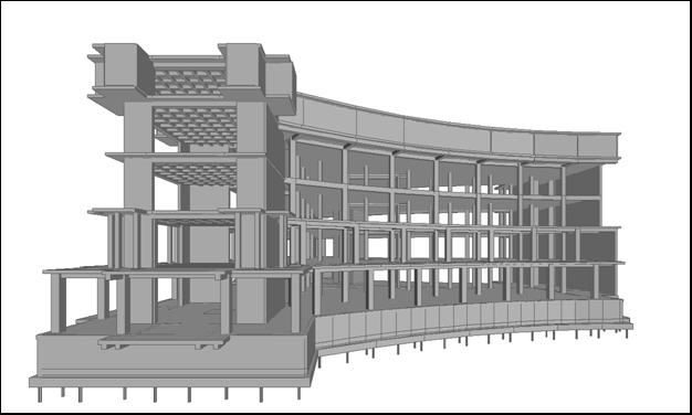 монополитно-каркасного здания