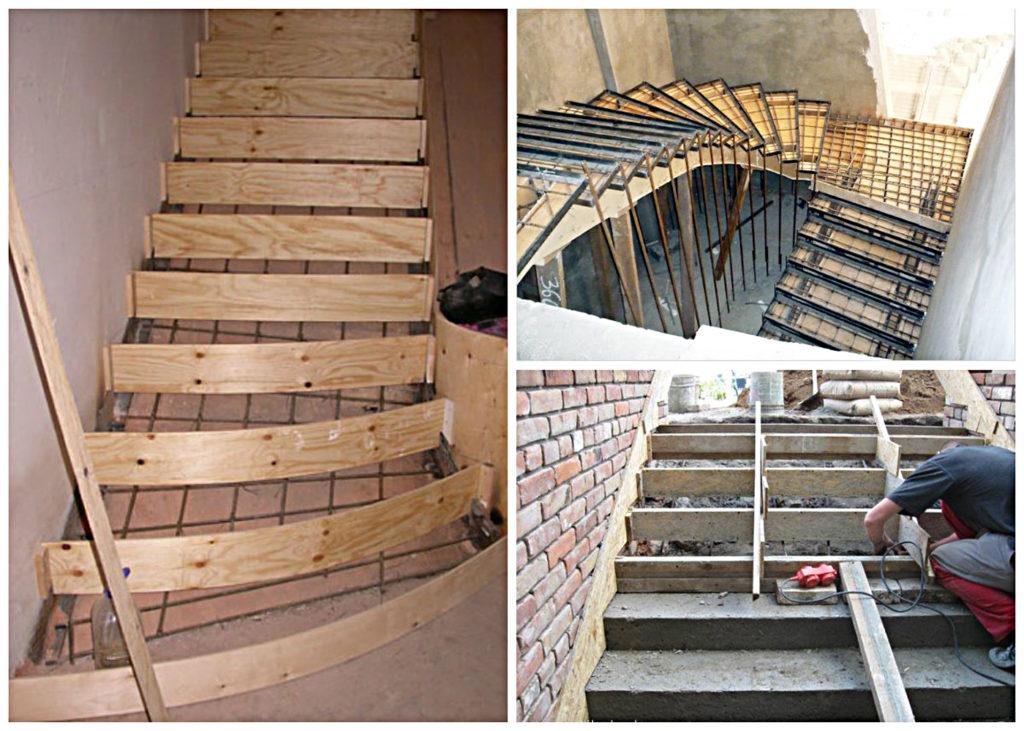 размеры монолитной лестницы