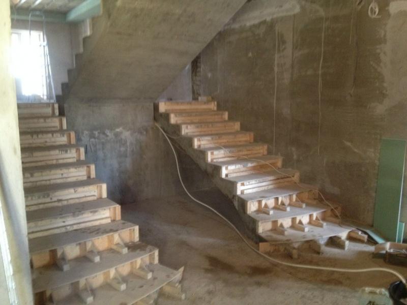Монолитные лестницы изготовление